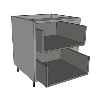 350 Bedside Unit, 2 Deep Drawers