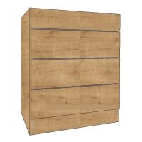 600 Chest of Drawers cabinets, 1 Shallow & 3 Deep Drawers