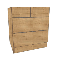 600 Chest of Drawers cabinets, 2 Shallow & 2 Deep Drawers