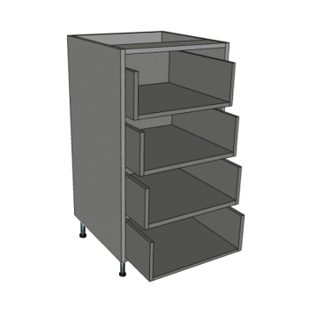 400 Tall Narrow Chest, 4 Deep Drawers