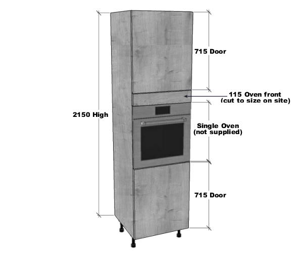 Single Oven Housing Unit 2150mm High Bestq Kitchens