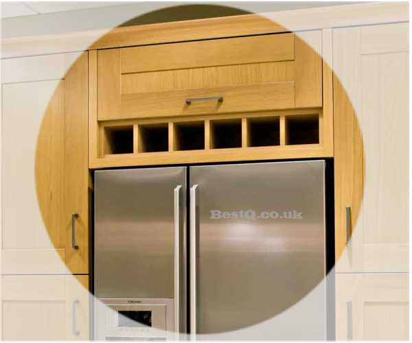950 Wide X 150mm High Above Fridge Wine Rack Bestq Kitchens