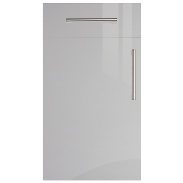 Firbeck Super-Gloss Light Grey Kitchen Doors