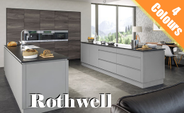 Rothwell Handleless Kitchen Doors, Available in 4 Supermatt colours
